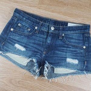Rag & Bone Cut Off Denim Shorts Sz 24